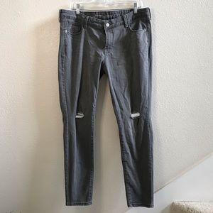 OLD NAVY rockstar skinny jeans gray denim 16